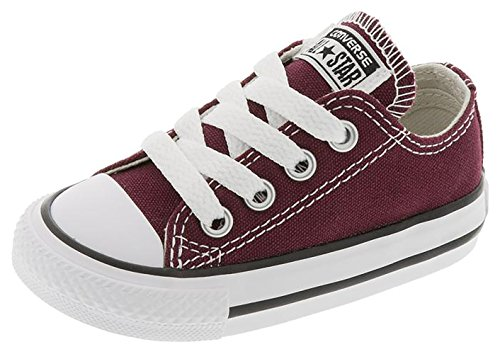 Converse Infant/Toddler's Chuck Taylor All Star OX Low Top Fashion Shoe Burgundy 4C