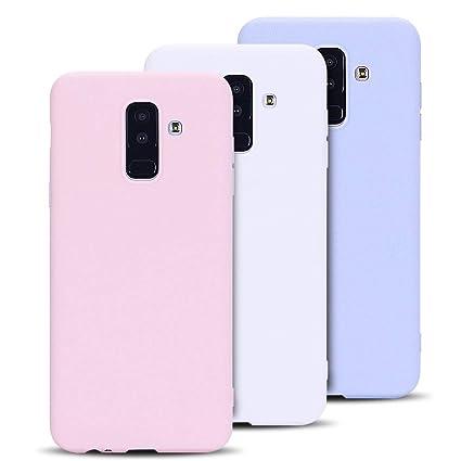 Anfire-ES 3X Funda para Samsung Galaxy A6 Plus 2018, Silicona Case Suave Gel TPU Carcasa Ultra Ligero Bumper Tapa Antigolpes Flexible Protectora Caso ...
