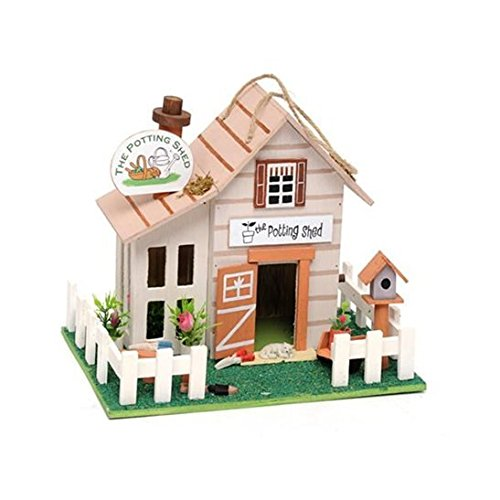 The Potting Shed Wooden Hanging Birdhouse Direct Global Trading
