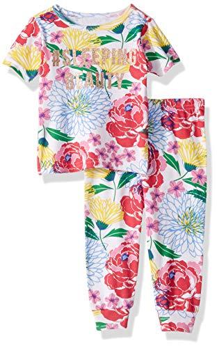 2 Piece Short Sleeve Pajamas - The Children's Place Baby Girls Short Sleeve 2-Piece Pajama Set, Multi CLR, 3-6MONTHS