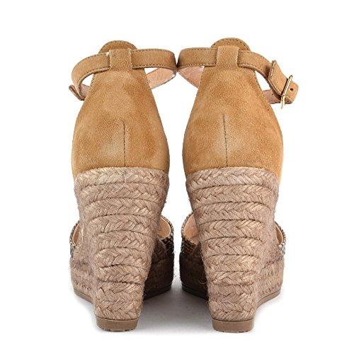 Kanna Schuhe Camel Sandalen aus Leder Damen Camel