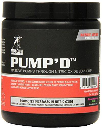 Betancourt Nutrition Pump'd Pre Workout Supplement, Strawberry Kiwi, 210 Gram