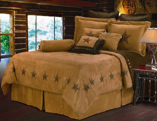 HiEnd Accents Luxury Star Western Bedding, (Collection Neckroll Bed Pillow)