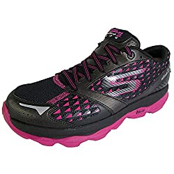 Skechers Womens GOrun Ultra 2 Climate Lace Up Shoe,Black/Hot Pink,US 6.5 M