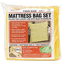 U-Haul Deluxe Mattress and Box Spring Bag Set for Moving and Storage Protection - 2.25 Mil Bags