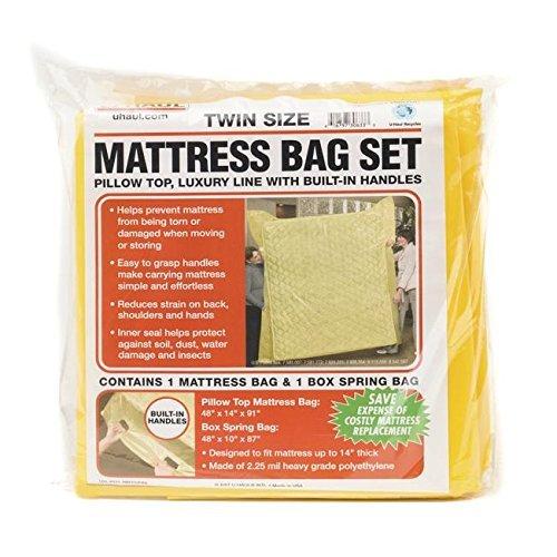 "1 Mattress Bag - 2.25 Mil mbqcp U-Haul King Mattress Bag Set and 2 Box Spring Bags 100/"" x 87/"" x 14/"" 94/"" x 48/"" x 8/"""