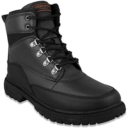 LONDON FOG Mens Camden Waterproof Cold Weather Snow Boot Black 9 M US