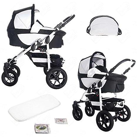 bebebi | Modelo Sidney | ruedas de goma dura negra | 3 in 1 Cochecito con cochecito modular combinabili - Sydney: Amazon.es: Bebé