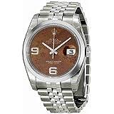 Rolex Datejust Bronze Floral Automatic Stainless Steel Ladies Watch 116200BRFAJ