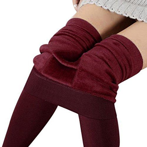 Thermique Pantalons en 2018 Chaud Winwintom Rouge Hiver Leggings Femmes JambiRes Molleton Stretch Velours Doubl Pantalon Perl De Pieds Pais wTq6xCqH