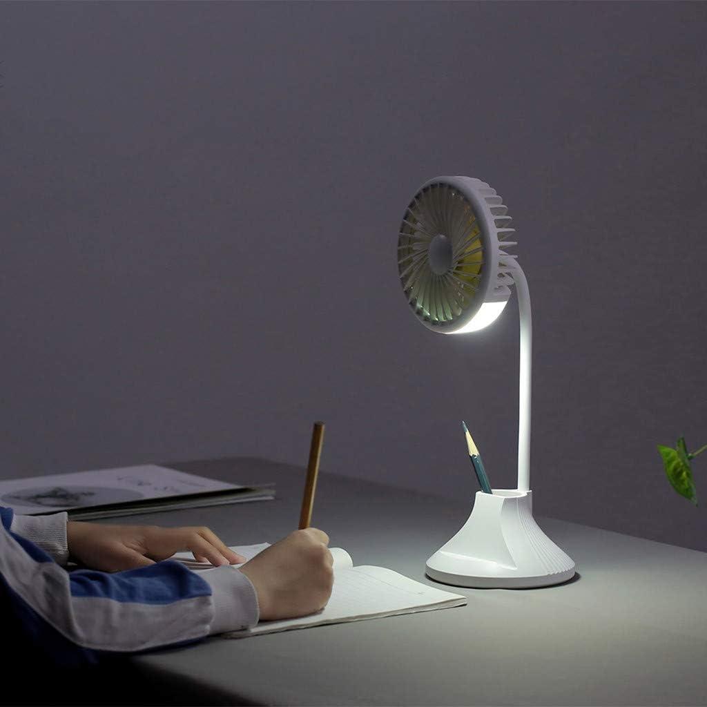JiaMeng Ventilador Clip de luz LED en el Ventilador Mini Soporte Flexible Lámpara Recargable portátil para Ventilador USB para Oficina/Hogar/Viajar/Acampar, Alimentado por USB: Amazon.es: Ropa y accesorios