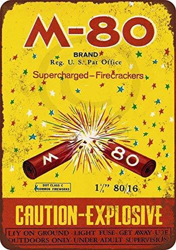 qidushop M-80 Supercharged Firecrackers - Cartel Decorativo ...