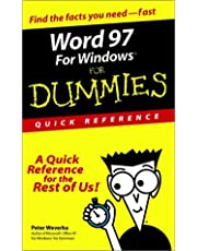 Word 97 for Windows for Dummies: Quick Reference