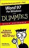 Word 97 for Windows® for Dummies®, Peter Weverka, 0764500708