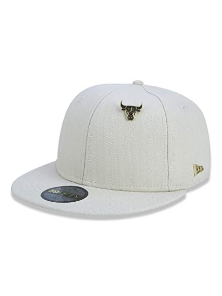 ad10aad7cb137 BONE 5950 CHICAGO BULLS NBA ABA RETA BEGE NEW ERA  Amazon.com.br ...
