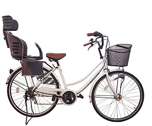 Lupinusルピナス 自転車 26インチ LP-266UA-KNRJ-BR 軽快車 シマノ外装6段ギア オートライト 樹脂製後子乗せブラウン B073LKJV1X ホワイト ホワイト