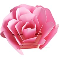 Sanwooden Greeting Card Sent to Bless Creative Handmade 3D Pop Up Rose Flower Birthday Gift Greeting Card Papercraft Grateful to Have You.