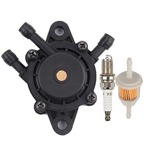 Mckin Fuel Pump+ Fuel Filter+Spark Plug fits John Deere D100 D105 D110 D120 D125 D130 D140 D150 D155 D160 D170 Garden Lawn Mower