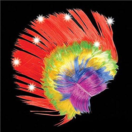 [LIGHT-UP RAINBOW MOHAWK WIG. ONE PIECE.] (Mohawk Halloween Costumes)