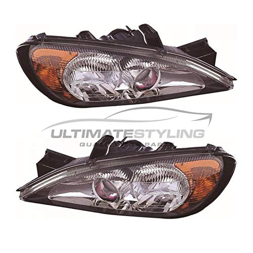 Ultimate Styling Electric Adjustment Halogen Headlight//Headlamp Without Load Level Motor Passenger Side N//S Internal Colour As Pictured Bezel