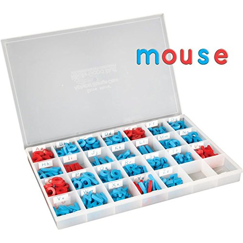 Really Good Stuff EZread Color-Coded Magnetic Letter Kit with Storage Case