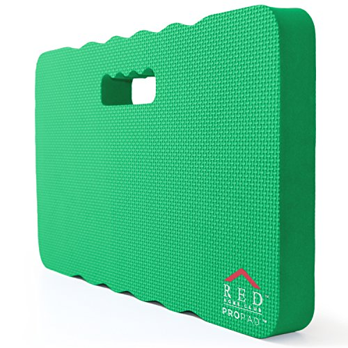 RED Home Club Thick Kneeling Pad - Garden Kneeler for Gardening, Bath Kneeler for Baby Bath, Kneeling Mat for Exercise & Yoga, Knee Pad for Work, Extra Large (XL) 18x11, Thickest 1-½ Inches, Green