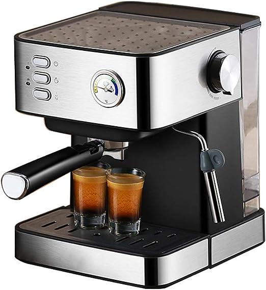 LTLWSH Cafetera Espresso, con Filtro de Agua 850 W de Potencia Presión de 20 Bares Depósito de Agua de 1,5 litros, Boquilla de Vapor Termómetro Colador: Amazon.es: Hogar