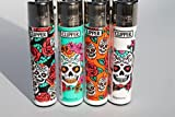 Bundle - 4 Items - Clipper Lighter Sugar Skulls