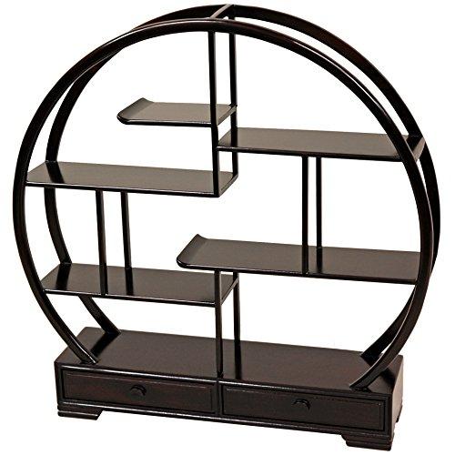 (Oriental Furniture Rosewood Mingei Display Stand - Dark Rosewood)