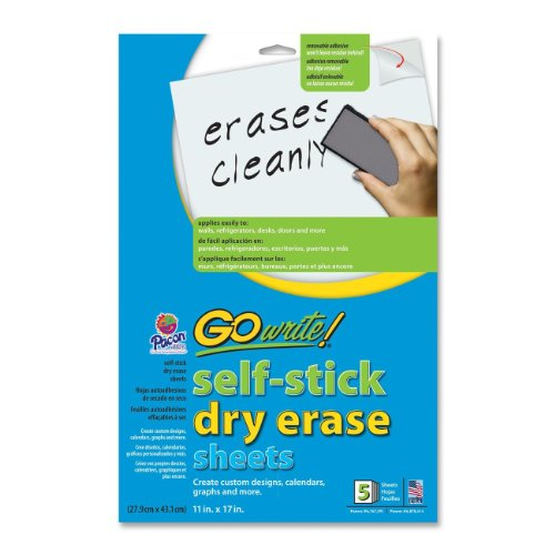 Pacon Adhesive Dry Erase Sheets (PACAS1117) by Pacon