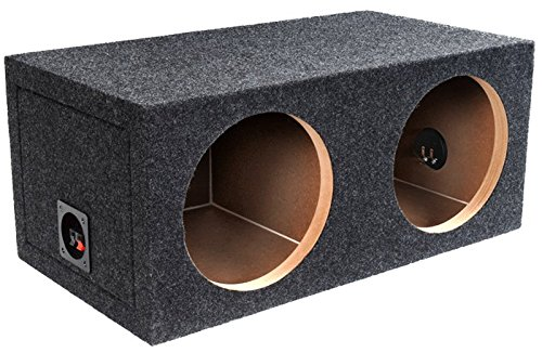 12 Sub Box - BBox E12D 12-Inch Dual Sealed Carpeted Subwoofer Enclosure