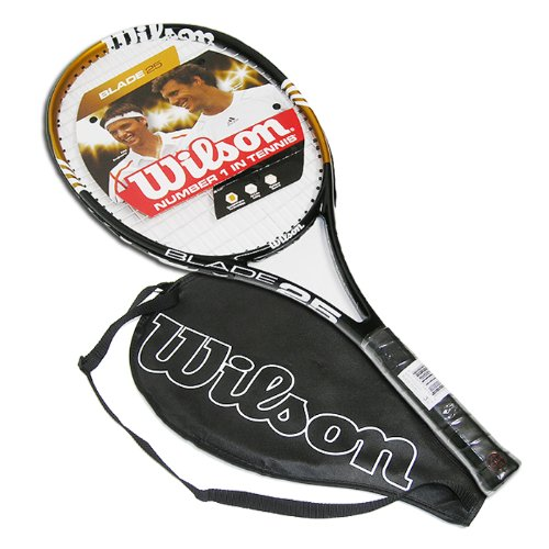 Wilson Blade Junior Recreational Tennis Racket (Gold/Black, 25-Inch)