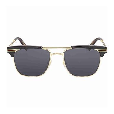 18567108bd Lunettes de Soleil Gucci GG0287S BLACK/GREY homme: Amazon.fr ...