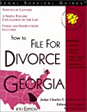 How to File for Divorce in Georgia, Charles T. Robertson and Edward A. Haman, 1572481374
