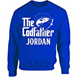 My Family Tee The Codfather Jordan Custom Name Fishing Fathers Day - Adult Sweatshirt S Royal