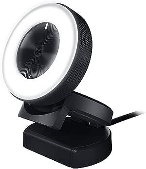 Razer Kiyo: Full HD 1080p 30FPS / 720p 60FPS - Built in Adjustable Ring Light - Advanced Autofocus Feature - Streaming Web Camera (Renewed)