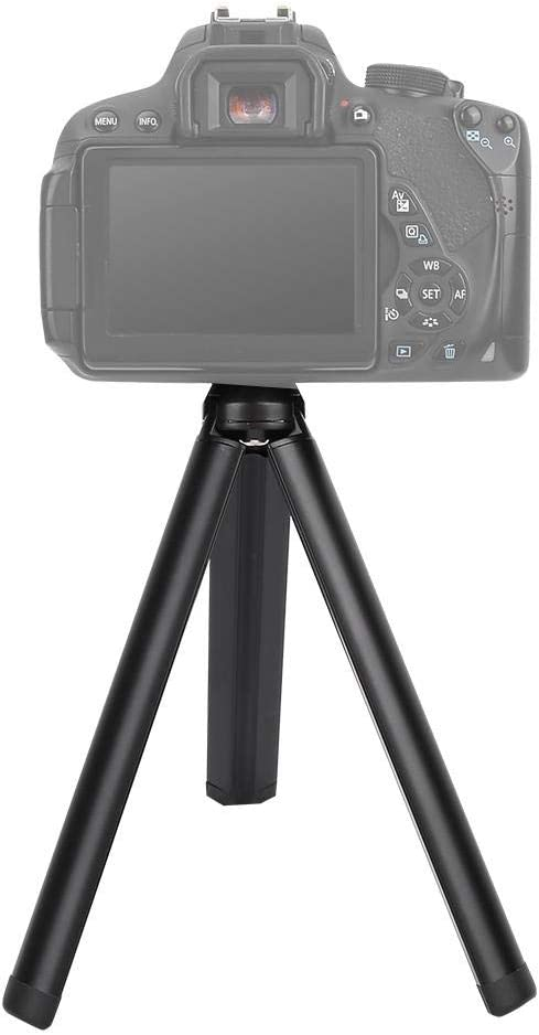 Diyeeni Mini Tripod Action Camera Tripod Aluminium Alloy Heavy Load Folding 1//4 Screw Tripod Accessory for Camera Gimbal