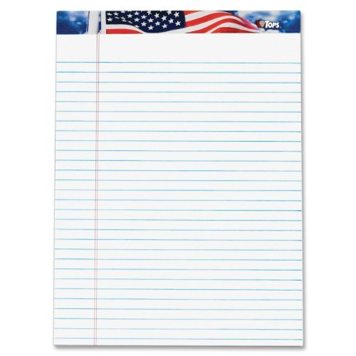 TOPS American Pride Writing Tablet, 8-1/2 x 11-3/4 Inches...
