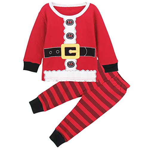 Santa Outfit For Baby (A&J Design Baby Boy's Santa Claus Christmas Outfit 2 Piece Set (12-18 Months, Red))