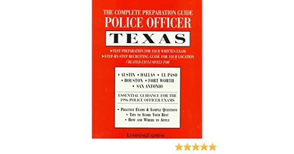 Texas police exam study guide ebook civil service exam study guide practice test and review book array police officer exam texas complete preparation guide learning rh fandeluxe Choice Image