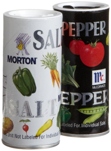 Morton's Salt/McCormick Pepper Double Pack, 5.25-Ounce Shakers (Pack of 12) by Morton Salt