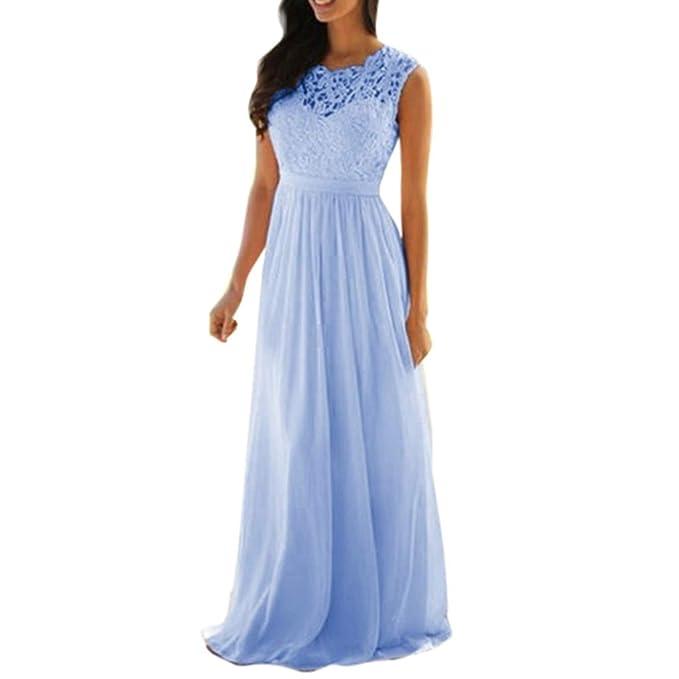 20698868a4 Women Lace Applique Elegant Coral Bridesmaid Dresses Wedding Guest Dress   Amazon.co.uk  Clothing