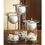 Home Essentials Terra Set Of 3 Candle Holders