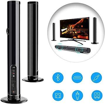 Soundbars para TV, Desmontable 2.1 De Altavoces De Canal 50W Bluetooth, Inalámbrico Y por Cable De