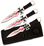 Perfect Point PP-020-3 Throwing Knife Set 3 Piece 7-Inch, Outdoor Stuffs