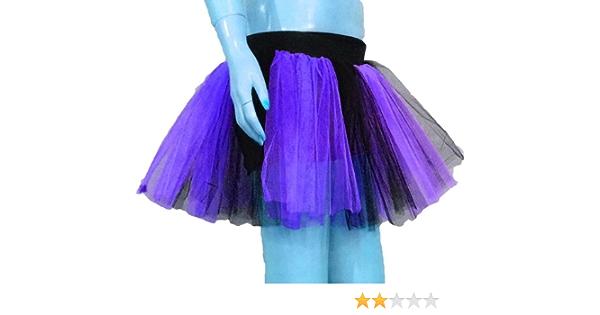 Purple Black 2 Tone Stripe Tutu Skirt Fancy Costume Queen of Darkness Heart Cosplay Dress Dance Party Club Halloween Christmas Sport USA