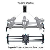 A&J Motorized Camera Slider Video Track Dolly DSLR Stabilizer with Time Lapse Automatic Tracking and Wide Angle Shot