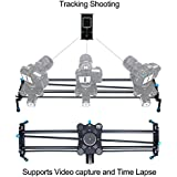 31 Motorized Camera Slider Video Track Dolly DSLR Stabilizer with Time Lapse Automatic Track and Wide Angle Shot, Carbon fiber
