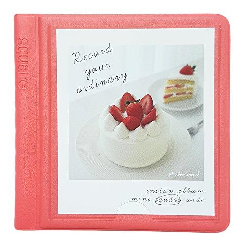 Fujifilm Instax Square Instant Film Album Polaroid Square Photo Album 29Pockets Pink