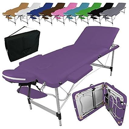 Vivezen Table De Massage Pliante 3 Zones En Aluminium